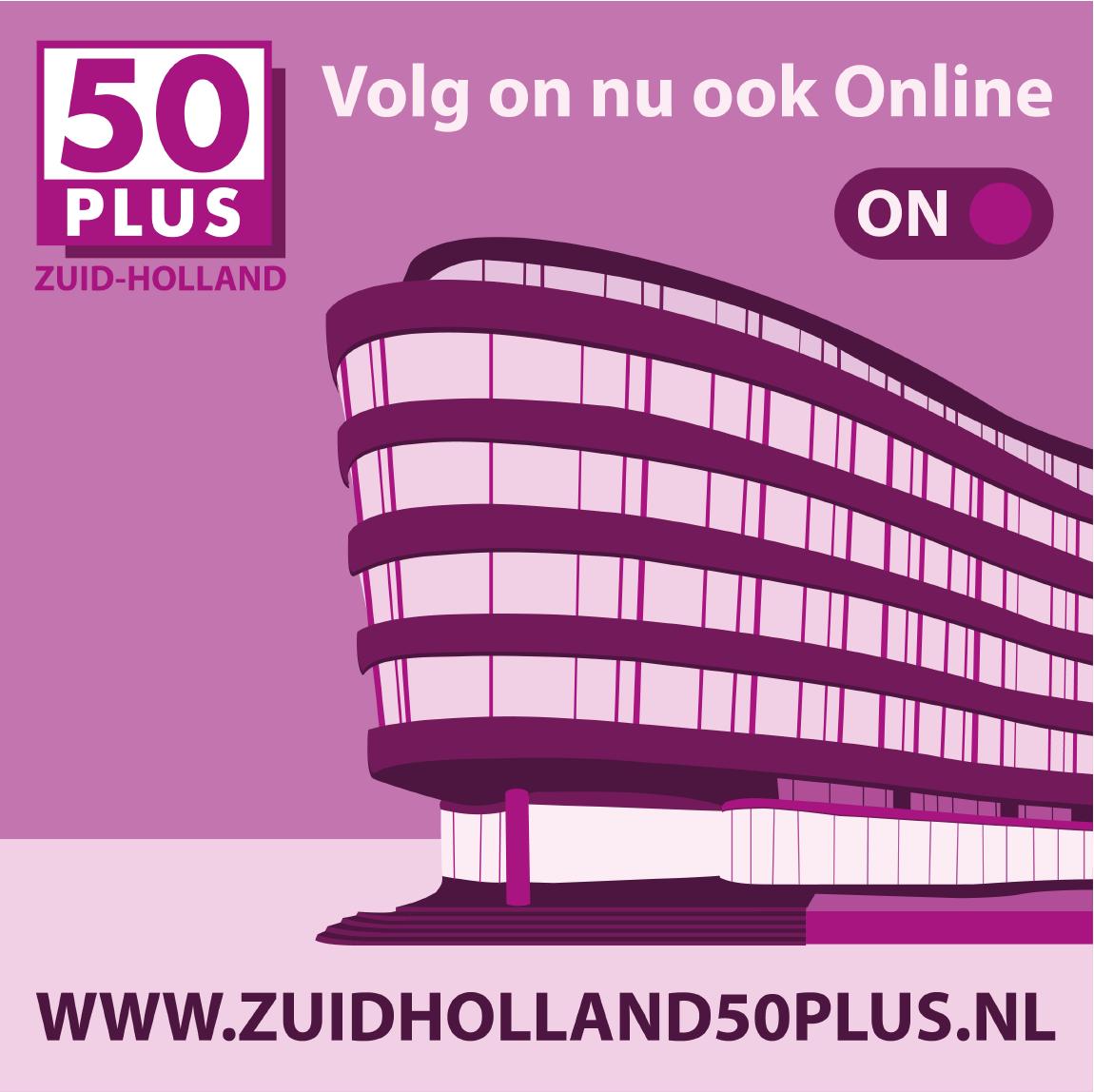 50PLUS Zuid-Holland heeft haar website vernieuwd!
